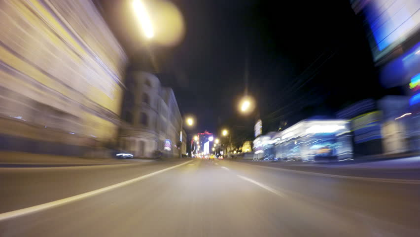 Night road POV through the city at night timelapse | Shutterstock HD Video #20579764