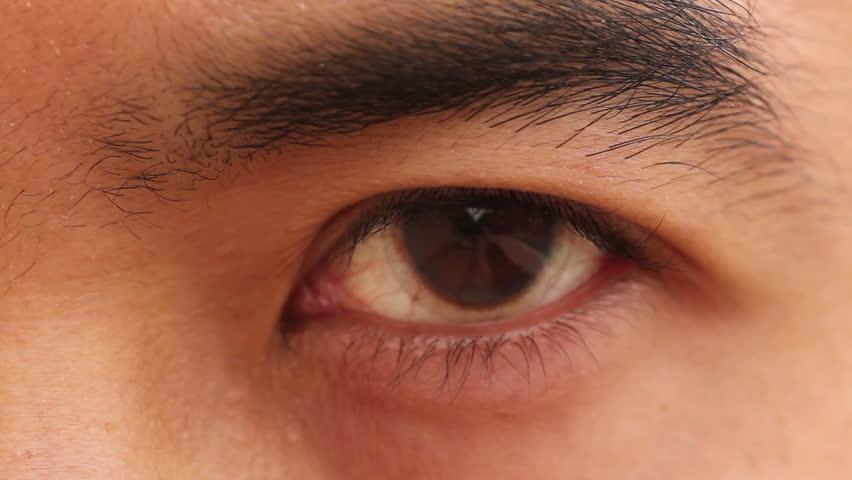 macro extreme closeup of an asian mans eye scanning