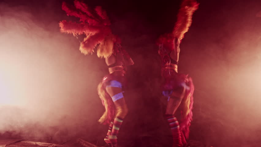 Clowns Girls. Carnival. Halloween.Circus | Shutterstock HD Video #20673688