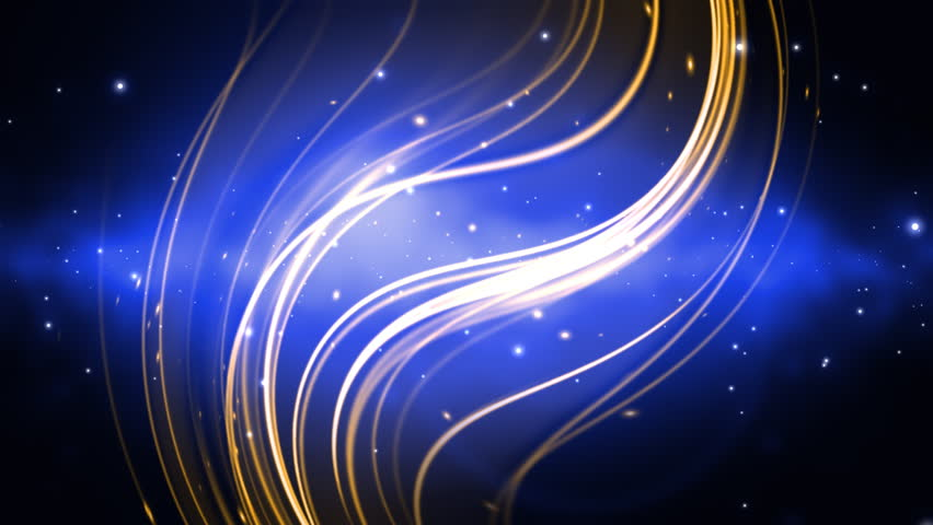 cosmic blue and gold looping animated background stock