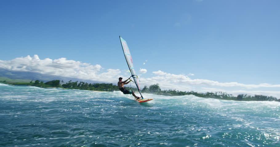 Windsurfing, summer fun extreme sport   Shutterstock HD Video #20868772