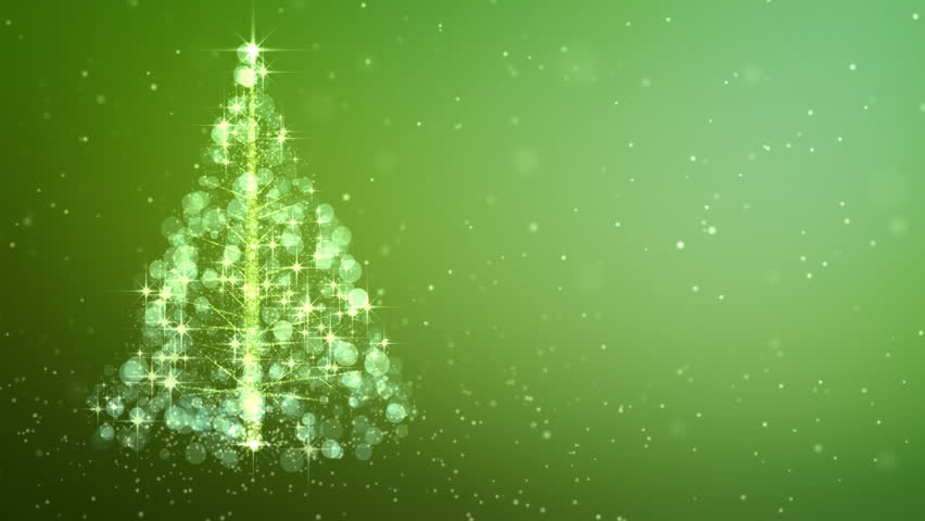 christmas tree scribble drawn onto the screen with a pulsing star on top and flickering star