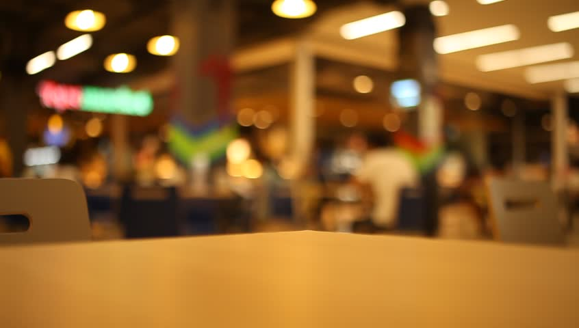Table and chair at food court blurred background | Shutterstock HD Video #20955388