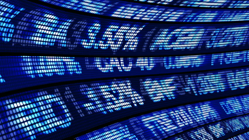 Stock Exchange Seamless 3d Animation - HD stock video clip
