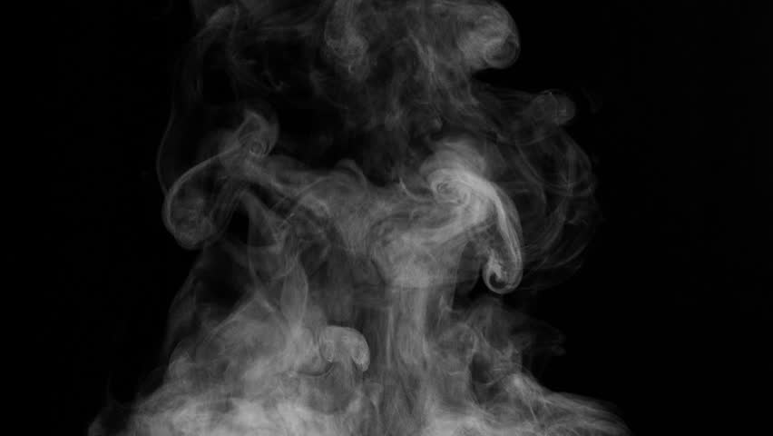 White Steam Rises from the Pan. White Steam rises from a large pot that is behind the scenes. Black background. Filmed at a speed of 240fps  | Shutterstock HD Video #21106813