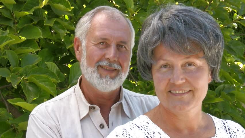 Senior couple hugging - HD stock video clip