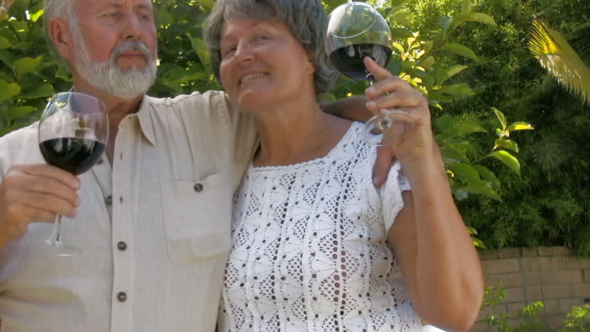 Happy, smiling, loving older couple - HD stock video clip