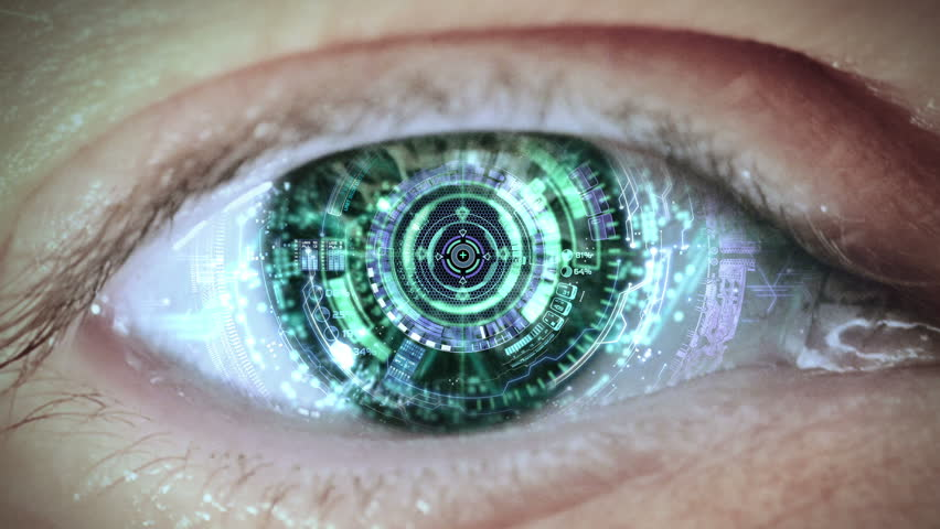 Cybernetic brain. Zooming through eye. | Shutterstock HD Video #21214921