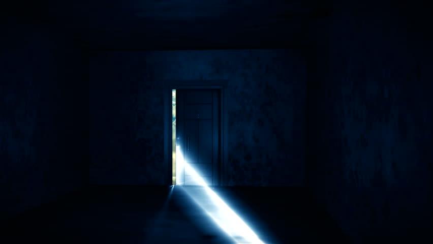 opening door to heaven - HD stock video clip