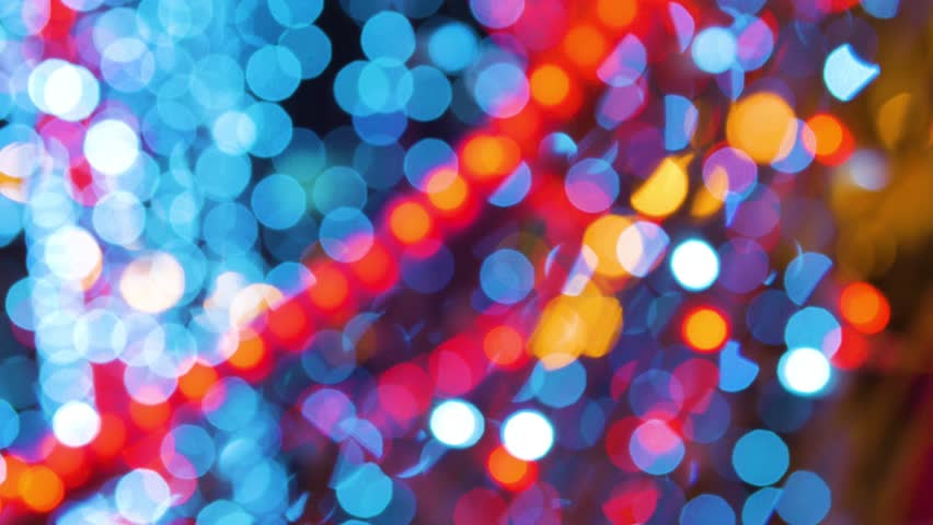 garland burn and flicker shimmer in soft focus bokeh Christmas or New Year background. #21553555