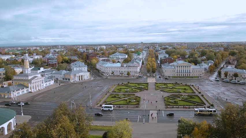 Top view of the Susanin square, Kostroma   Shutterstock HD Video #21635878