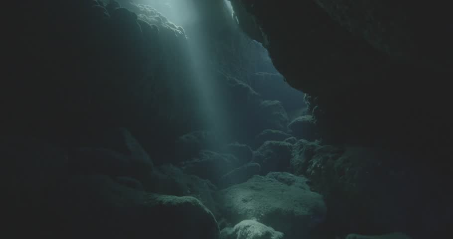 Sun rays in the cave