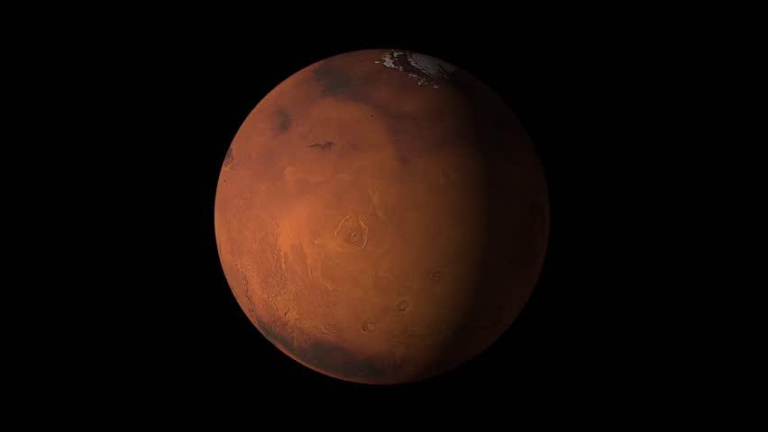 Planet Mars Beautiful 3d Animation Of Mars Planet Rotates ...
