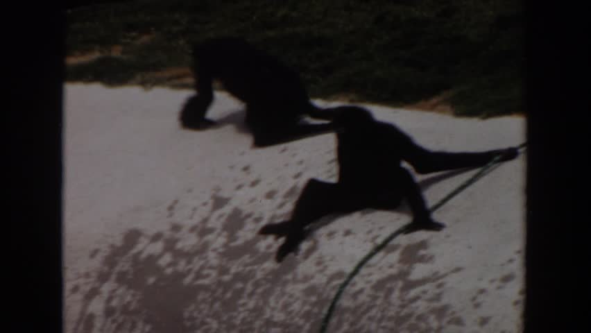 IRVINE CALIFORNIA 1974: monkeys playing outside. | Shutterstock HD Video #21716914