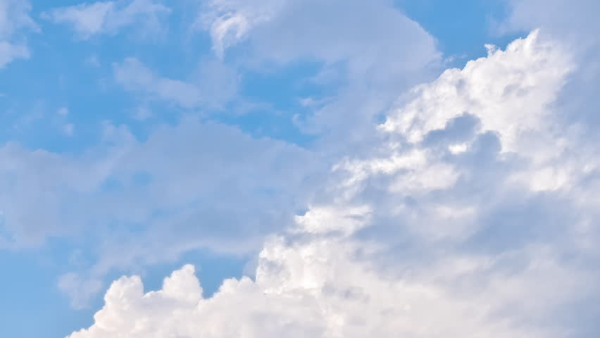 4K Time lapse: Beautiful cloudscape with large moving clouds  | Shutterstock HD Video #21733195