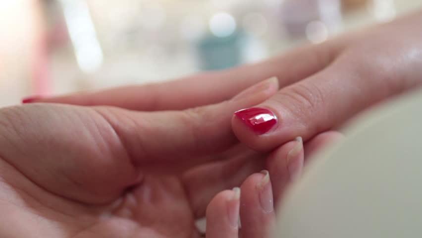 Nail polish - HD stock video clip