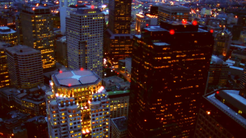Boston, MA - CIRCA 2003 - Aerial view of Boston's Financial District.