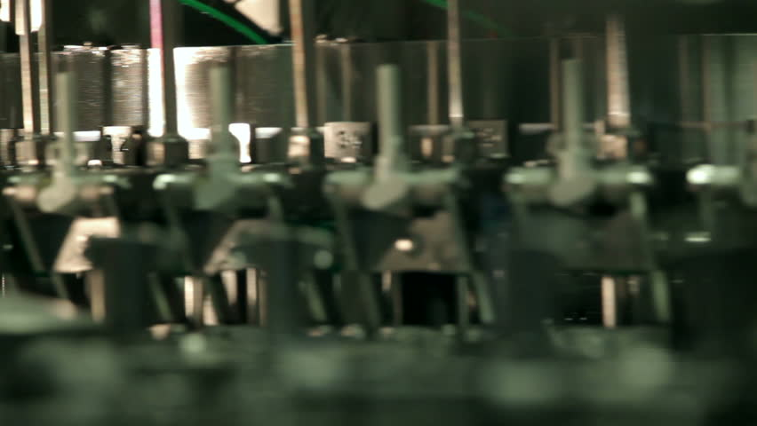 Production line of carbonated drinks - HD stock video clip