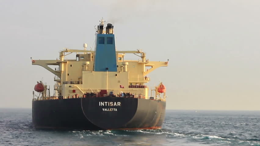 ISTANBUL - APRIL 30: Crude Oil Tanker INTISAR (IMO:9231901, Malta) with full of