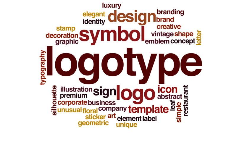 Logotype animated word cloud.