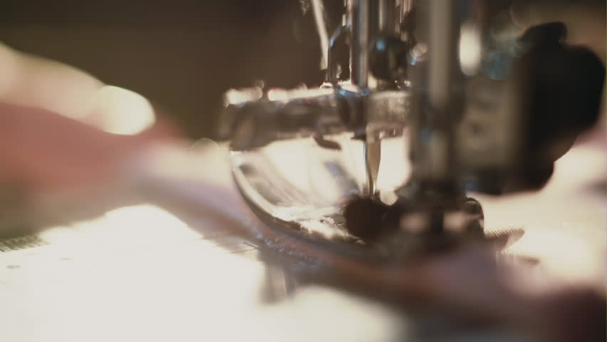 The sewing machine and item of clothing | Shutterstock HD Video #22326061