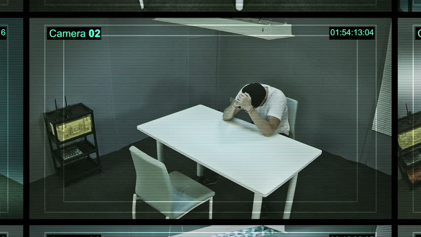 Multi-screen video monitoring interrogation rooms, surveillance security system
