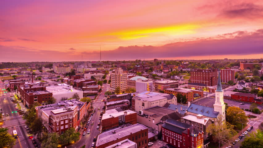 Macon, Georgia, USA downtown skyline time lapse. | Shutterstock HD Video #22407745
