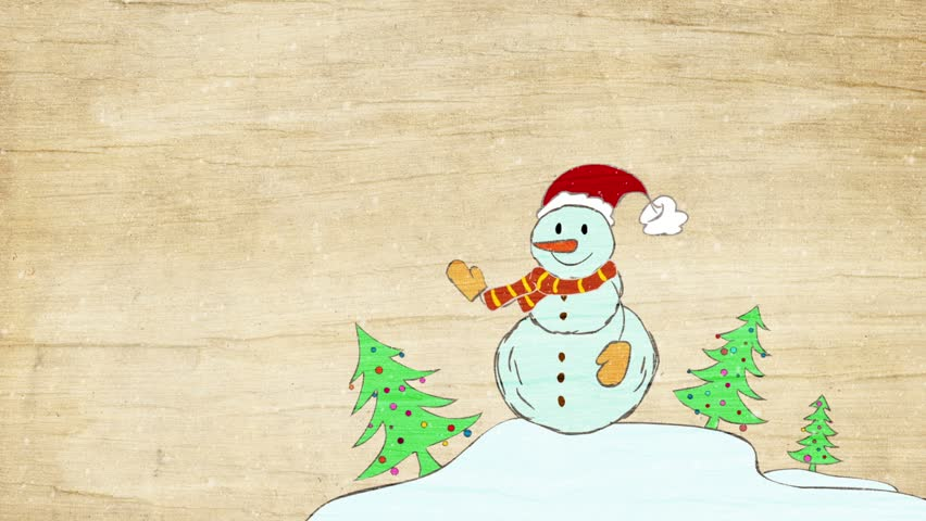 Animated snowman. | Shutterstock HD Video #22459216