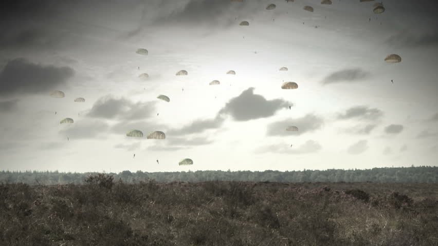 Parachute trooper invasion, world war 2