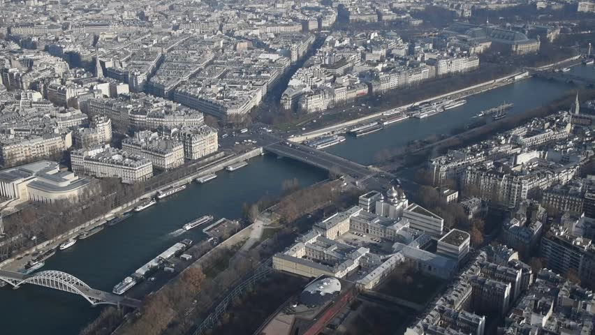 The view of Paris from the Eiffel Tower | Shutterstock HD Video #22565785
