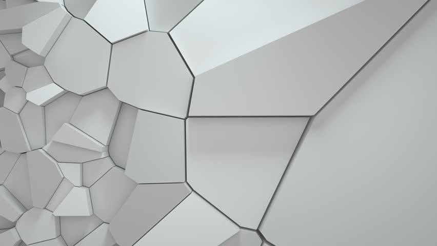 3d rendering loopable sequence of fractured surface. Random pieces moves towards and backwards to camera.    Shutterstock HD Video #22742383