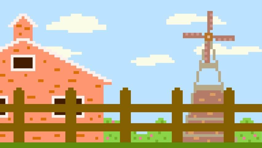 Pixel art farm | Shutterstock HD Video #22748494