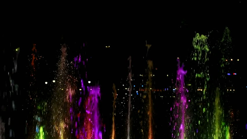 Water splashes lit with random colors | Shutterstock HD Video #22755460