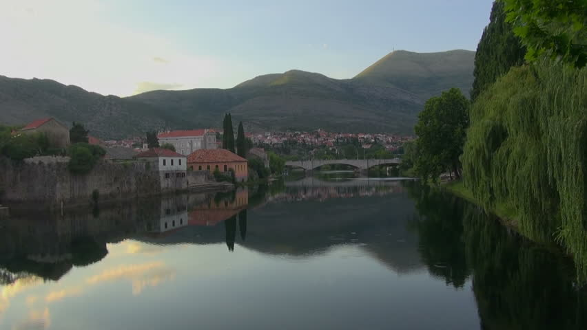 Nice view of the river, Trebinje, on July 3, 2015 | Shutterstock HD Video #22918054