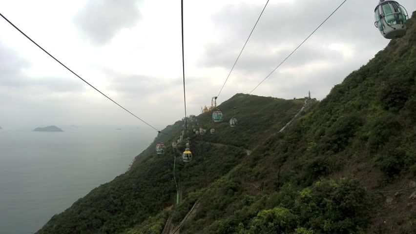 Cable car Hong Kong ocean park time lapse   Shutterstock HD Video #22943641
