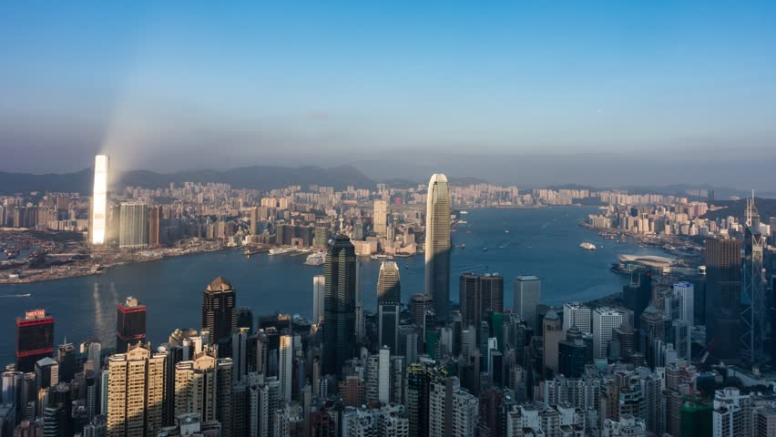 Time Lapse of Night view from Victoria Peak in Hong Kong   Shutterstock HD Video #22980676