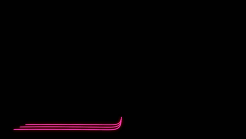 Neon Lines Lower Third 6 + Alpha Channel | Shutterstock HD Video #23041723