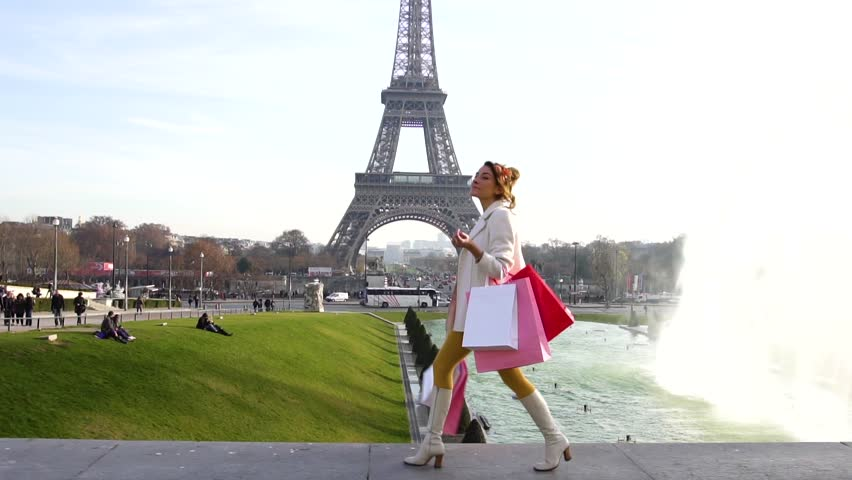 Paris, Woman shopping in Paris, slow motion, HD (1920X1080) | Shutterstock HD Video #23074474
