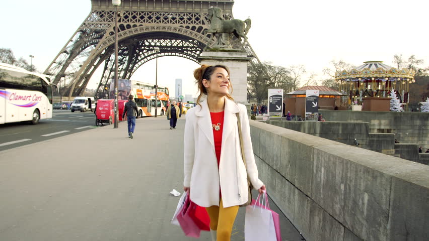 Paris, Woman shopping in Paris, 4K, UHD (3840X2160) | Shutterstock HD Video #23074483