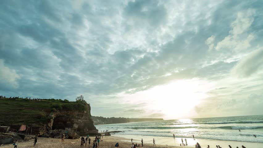 Time lapse of cloudscape during sunset. Dreamland beach, tropical Bali island, Indonesia. | Shutterstock HD Video #23111689