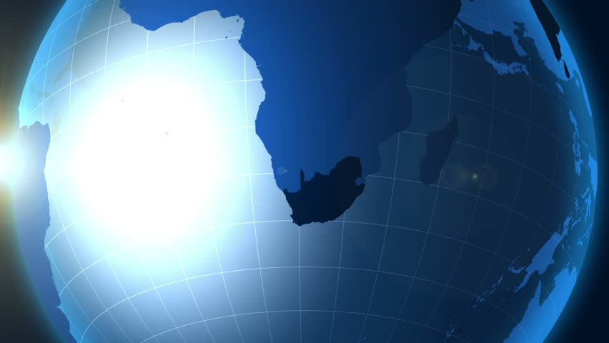 South Africa. Map, Zooming into South Africa on the globe. | Shutterstock HD Video #23124037