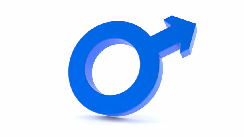 Male symbol rotate on white background   Shutterstock HD Video #23128231
