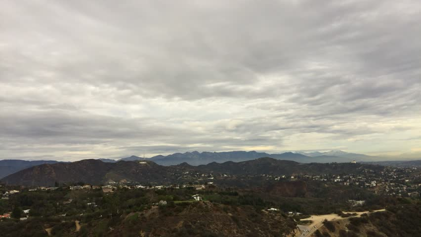 Hollywood Sign and Downtown Los Angeles Motion Time Lapse Clouds | Shutterstock HD Video #23180845