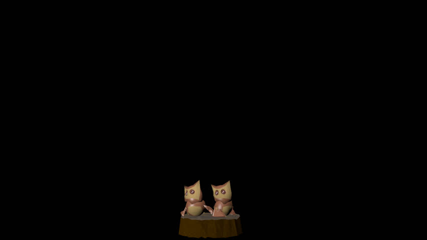 Pair of owls: animation with alpha channel _5 | Shutterstock HD Video #23182924