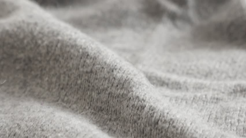 Shallow DOF fashion gray knitwork 4K 2160p 30fps UltraHD  footage - High quality modern hairy women sweater knitting texture 3840X2160 UHD tilting video   Shutterstock HD Video #23189260