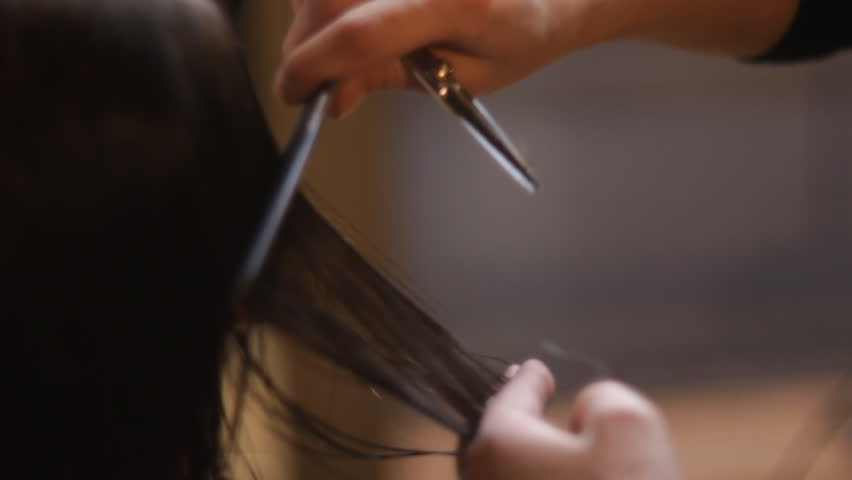 haircut in a barbershop - HD stock footage clip