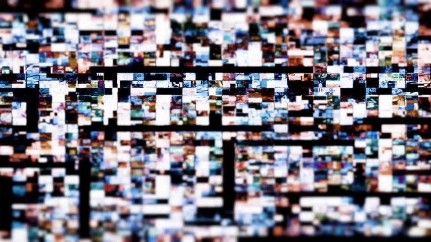 Digital video malfunction (Loop).   Shutterstock HD Video #23196118