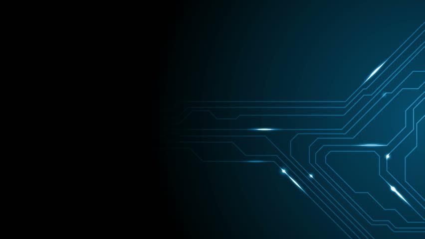 Dark blue tech circuit board technology animated background. Video graphic design Ultra HD 4K 3840x2160   Shutterstock HD Video #23199817