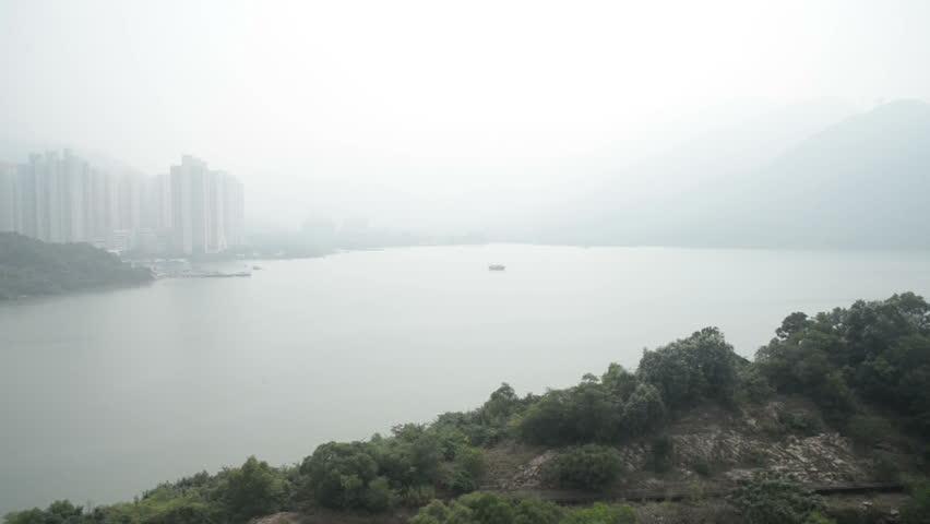 Ngong Ping 360 cable car on Lantau Island, Hong Kong. Cable car to mountain.   Shutterstock HD Video #23204092