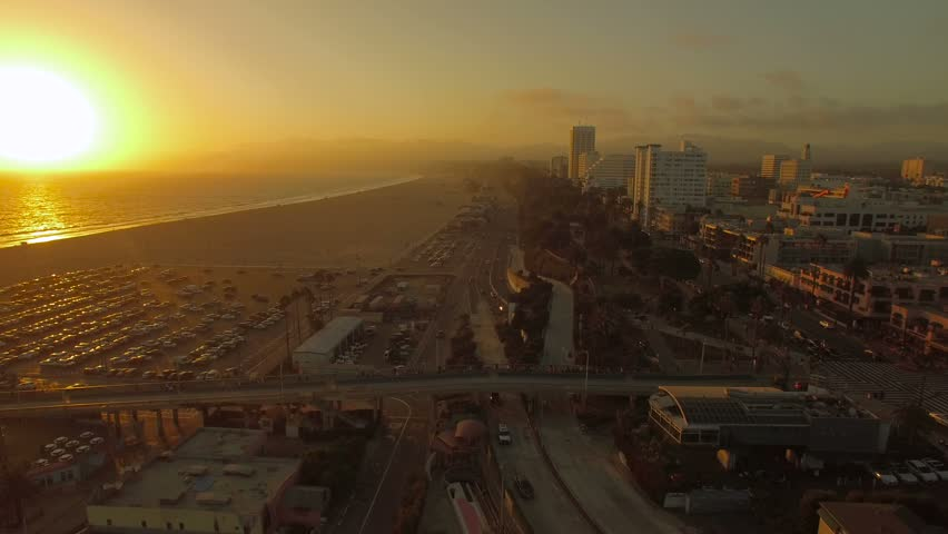 Aerial of Santa Monica in LA California.   Shutterstock HD Video #23206027